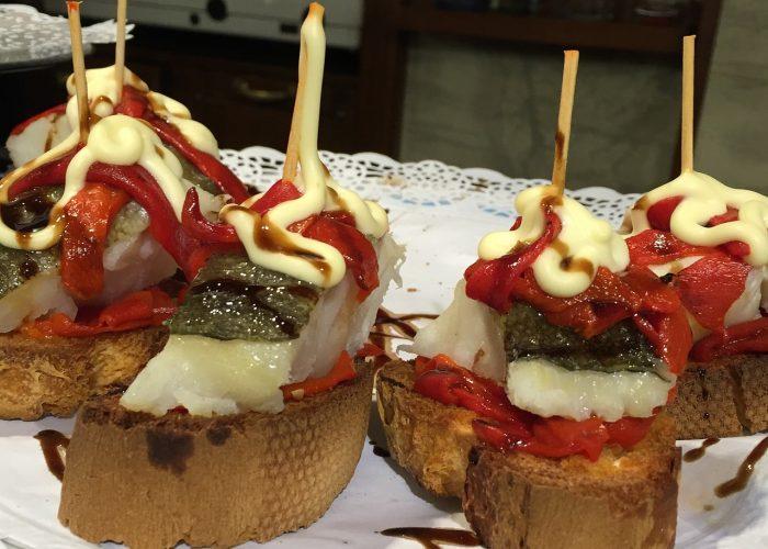Pintxos van champignons en chorizo